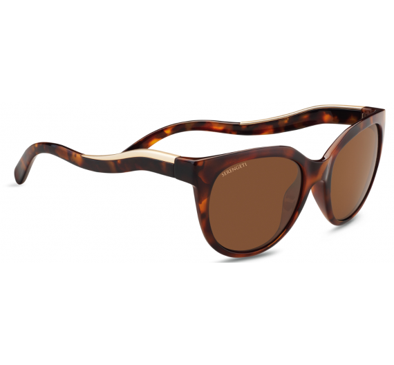 Lia 8573 Sh.Red Moss Tort/Sat.Champagne Gold Drivers Polarized